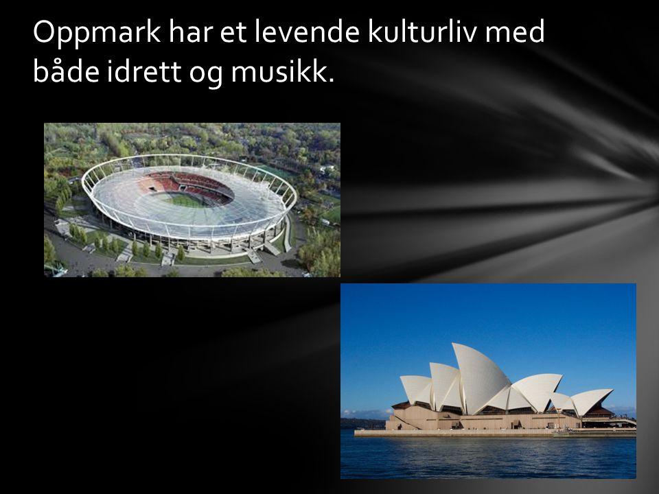 Oppmark har et levende kulturliv med både idrett og musikk.