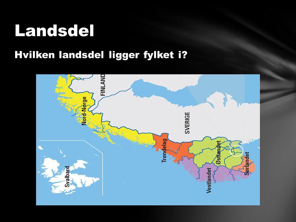 Hvilken landsdel ligger fylket i Landsdel