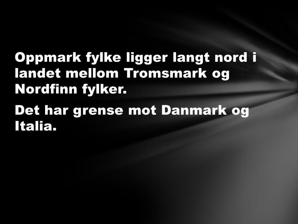 Oppmark fylke ligger langt nord i landet mellom Tromsmark og Nordfinn fylker.