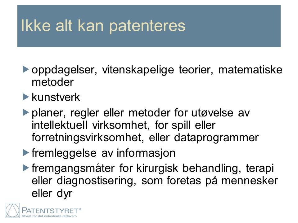 Retten til oppfinnelsen  I Norge oppstår retten til oppfinnelsen hos oppfinneren  Retten til oppfinnelsen kan overdras som en formuesgjenstand  Skal arbeidsgiver stå som innehaver av retten til oppfinnelsen, må en overdragelse finne sted