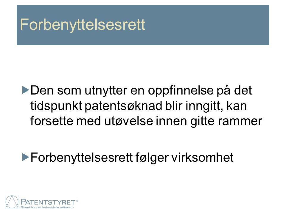 Patentsøknaden Det stilles bestemte krav til utformingen:  Beskrivelse Generell del (omtaler teknikken på området).