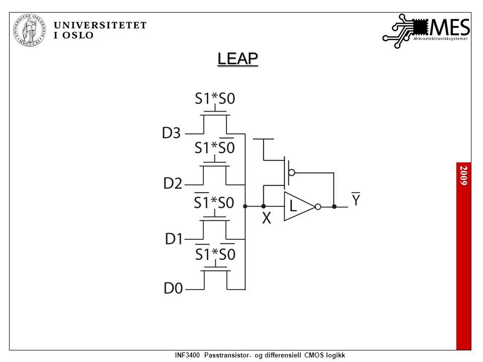 2009 INF3400 Passtransistor- og differensiell CMOS logikk LEAP