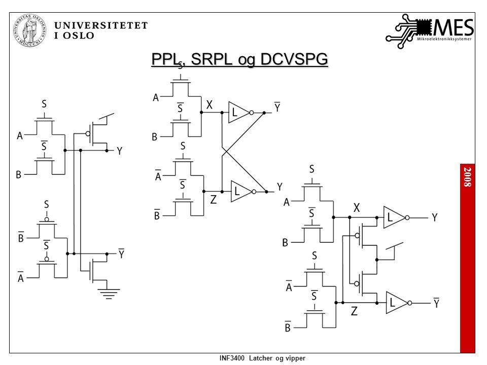 2008 INF3400 Latcher og vipper Differensielle kretser Differensiell split-level: