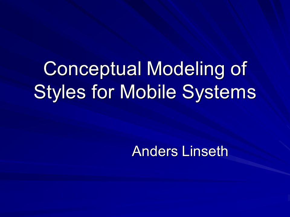 Innhold i artikkel Fokus på forflytning av mobile enheter mellom ulike nettverk Modeller: Grafer og transformasjonsgrafer Metamodell QoS – Quality of Service