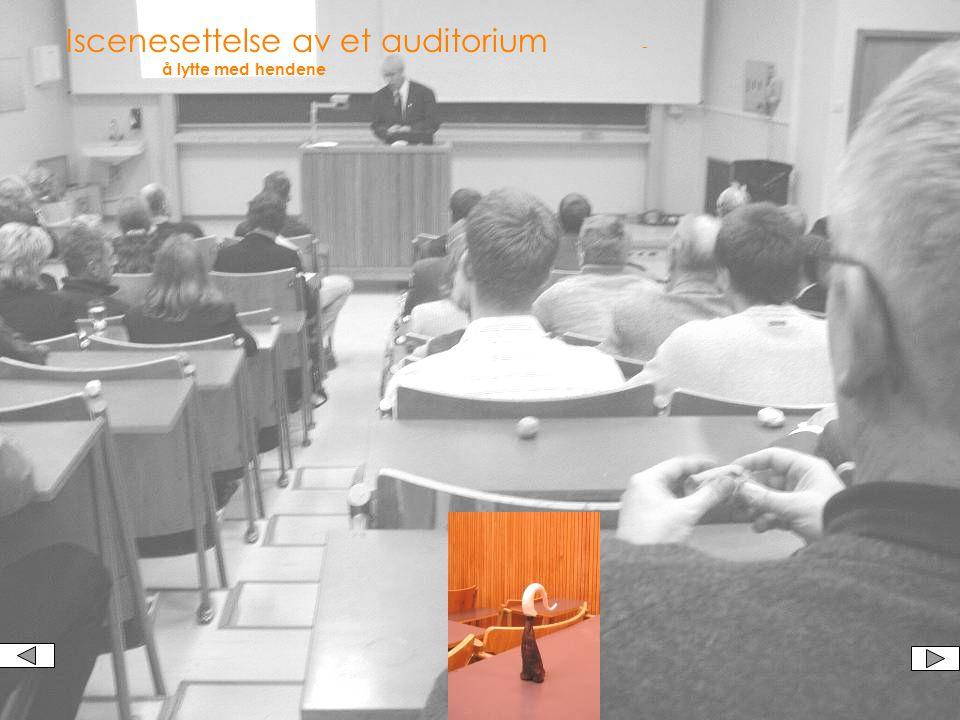 Auditoriet - et eksempel Læring kan gå via mange kanaler - vi tror på å bruke flere enn en.
