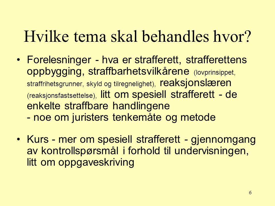 67 Forvaring og særreaksjoner strl § 39 flg.