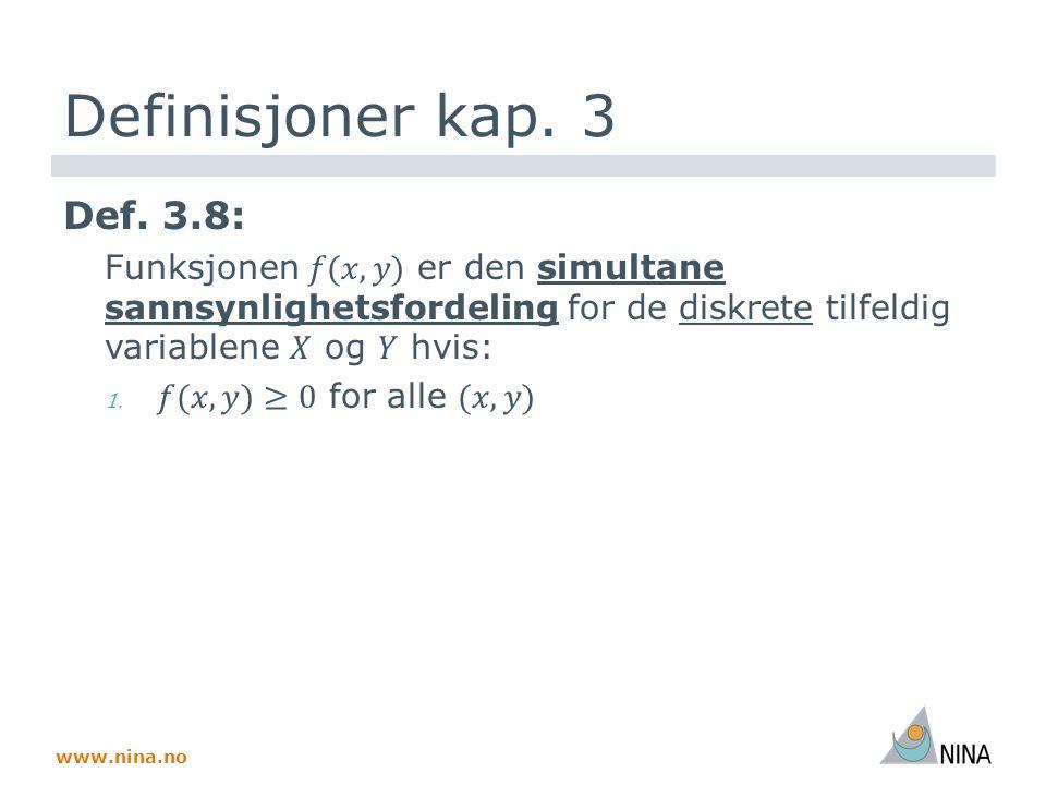 www.nina.no Definisjoner kap. 3