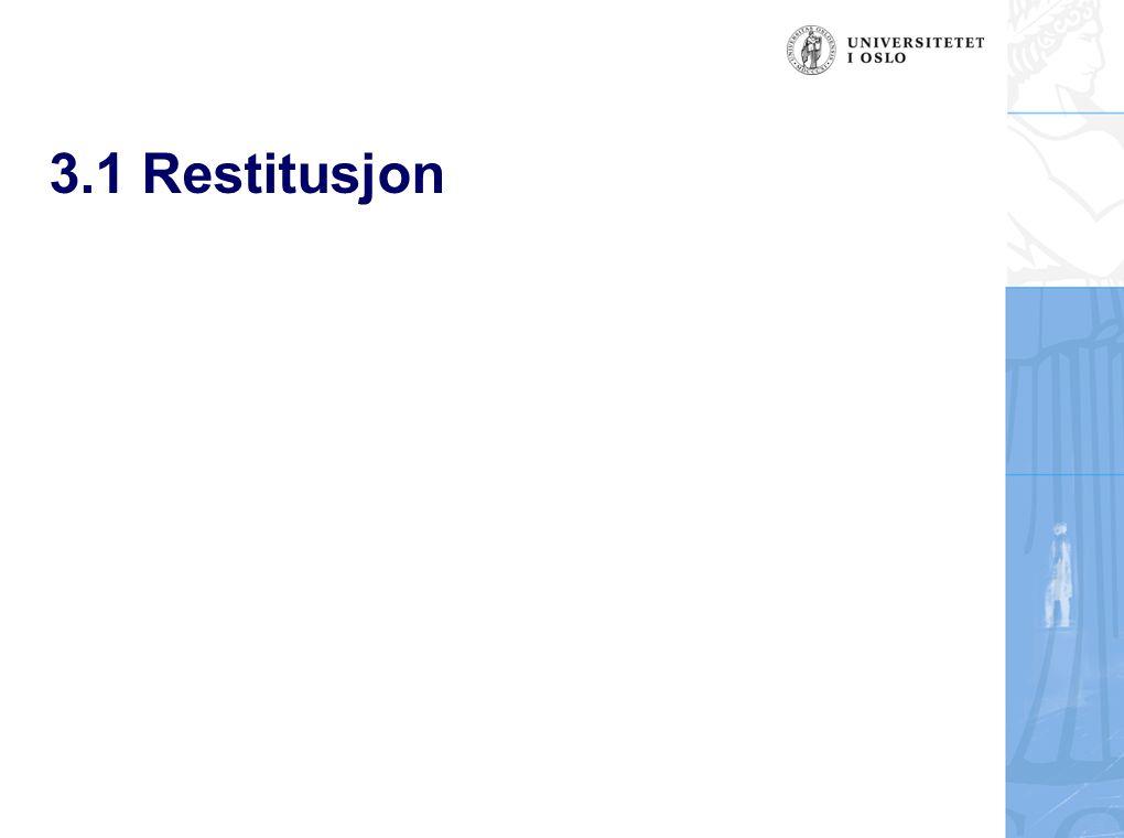 3.1 Restitusjon