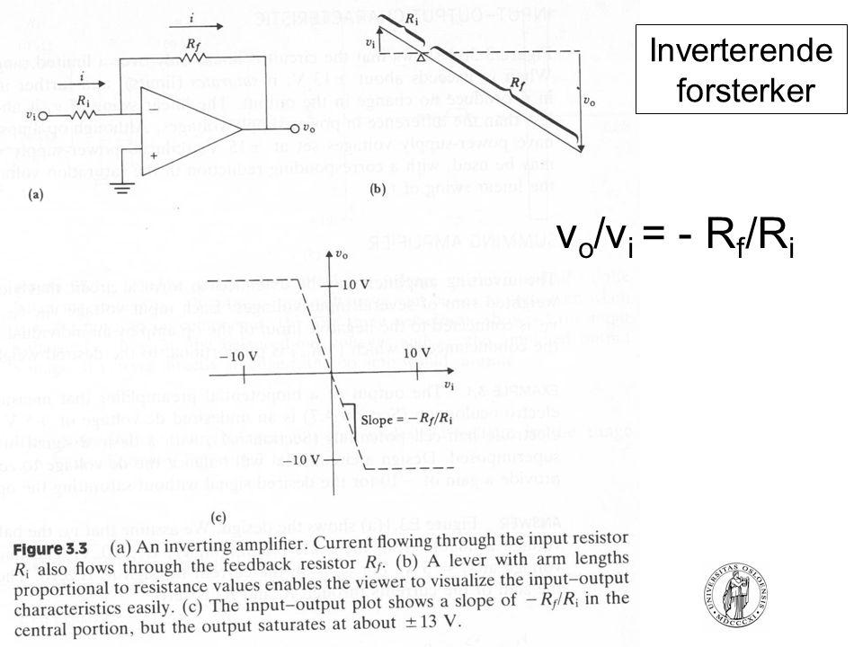 FYS4250Fysisk institutt - Rikshospitalet Inverterende forsterker v o /v i = - R f /R i