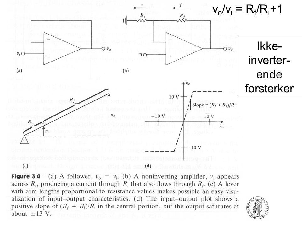 FYS4250Fysisk institutt - Rikshospitalet Ikke- inverter- ende forsterker v o /v i = R f /R i +1