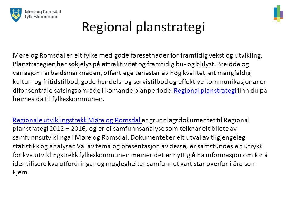 Regional planstrategi Møre og Romsdal er eit fylke med gode føresetnader for framtidig vekst og utvikling. Planstrategien har søkjelys på attraktivite