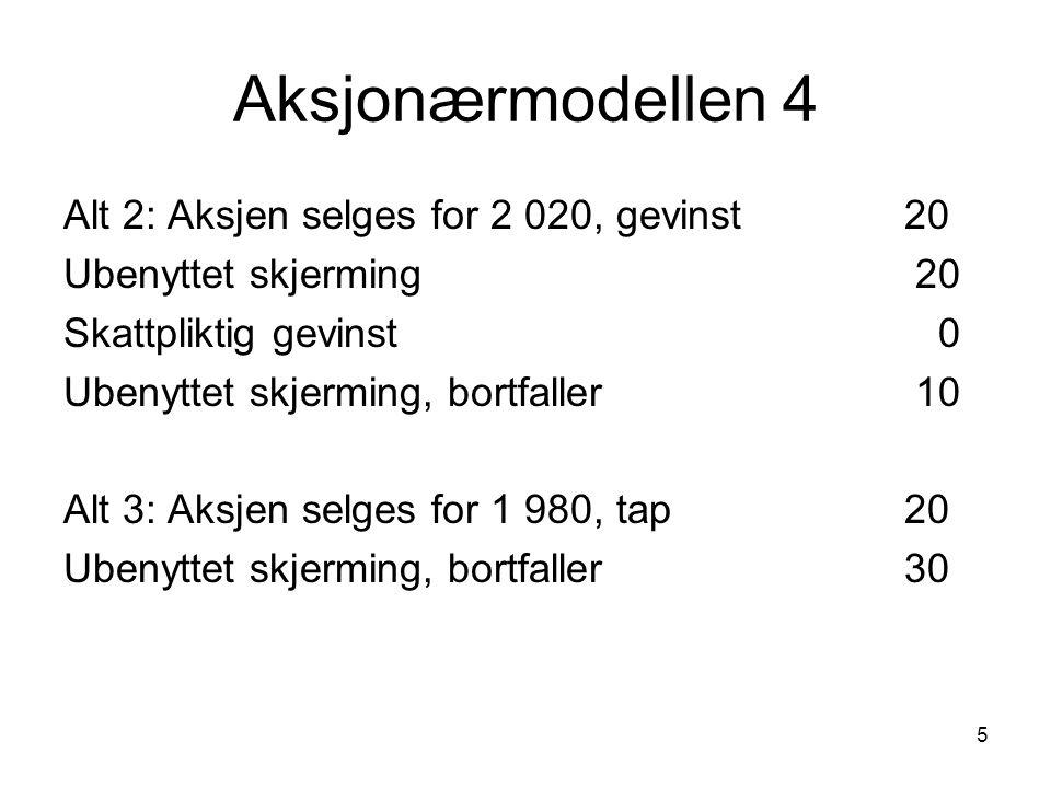 26 Omdannelse - åpningsbalanse Eiend 4600Aksjekap.