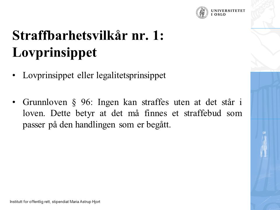 Institutt for offentlig rett, stipendiat Maria Astrup Hjort Forts.