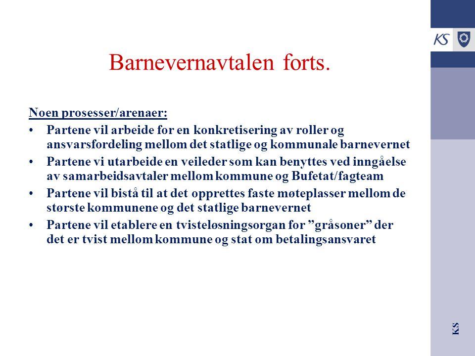 KS Barnevernavtalen forts.