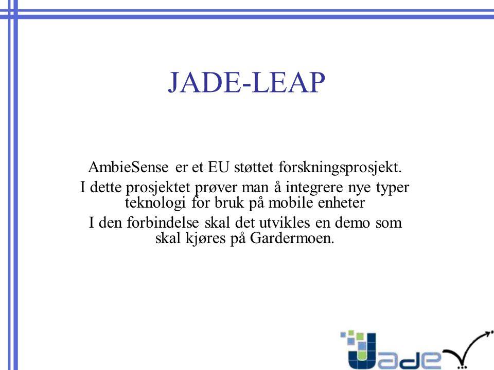 JADE-LEAP AmbieSense er et EU støttet forskningsprosjekt.