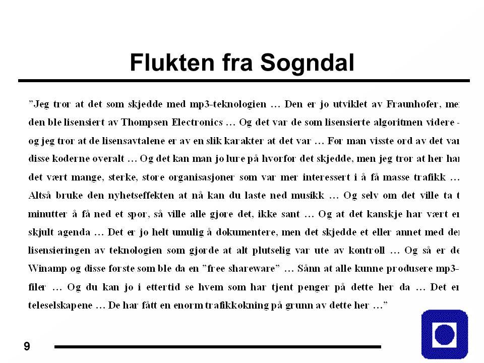 9 Flukten fra Sogndal