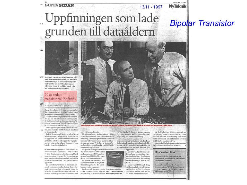 13/11 - 1997 Bipolar Transistor