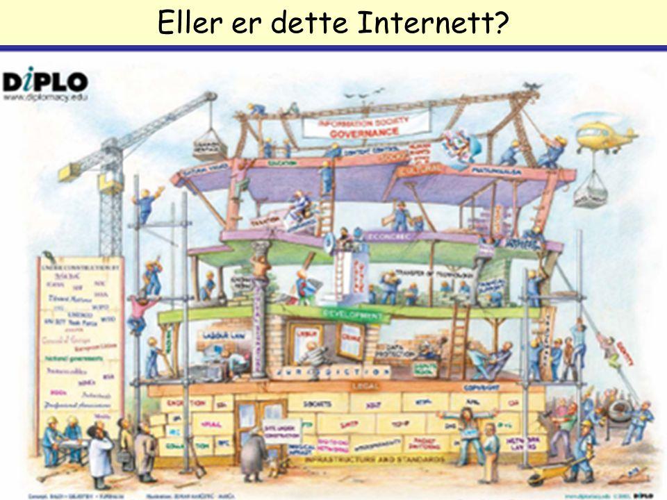 DRI1002-V07 1. forelesning Arild Jansen, AFIN Eller er dette Internett