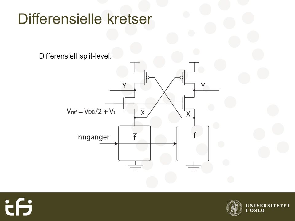 Differensielle kretser Differensiell split-level: