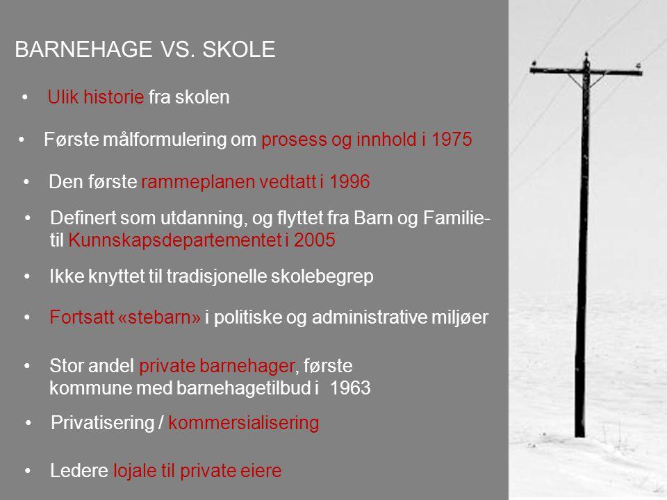 BARNEHAGE VS.