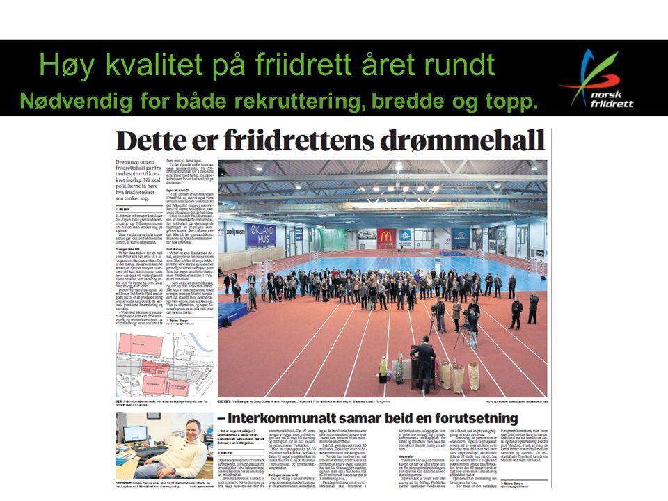Hvem vil hallen være for En friidrettshall i Grenland vil være et anlegg for en større region; Telemark, Vestfold, Agder (?).