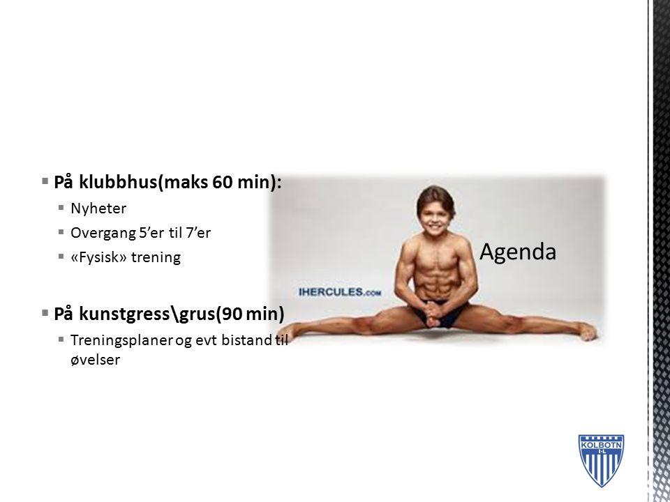  Ny webside  Responsiv  Nytt styret  Haakon Bekkestad fortsatt «sjef»  Revidert blå tråd  Konkretisering av forventninger fra klubb, foreldre og ressurspersoner\foreldre med verv.