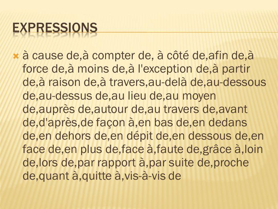  Preposisjoner + verb  verb + à  Preposisjonen à brukes ofte sammen med verb.
