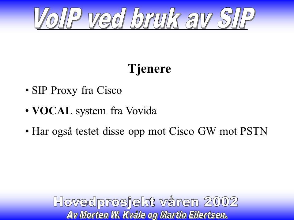 Resultat av testing Pakke analyse av SIP trafikk Mye av programvaren som har barnesykdommer Satt opp et fungerende IP-telefonisystem ved bruk av SIP Godt grunnlag for å skrive veiledning