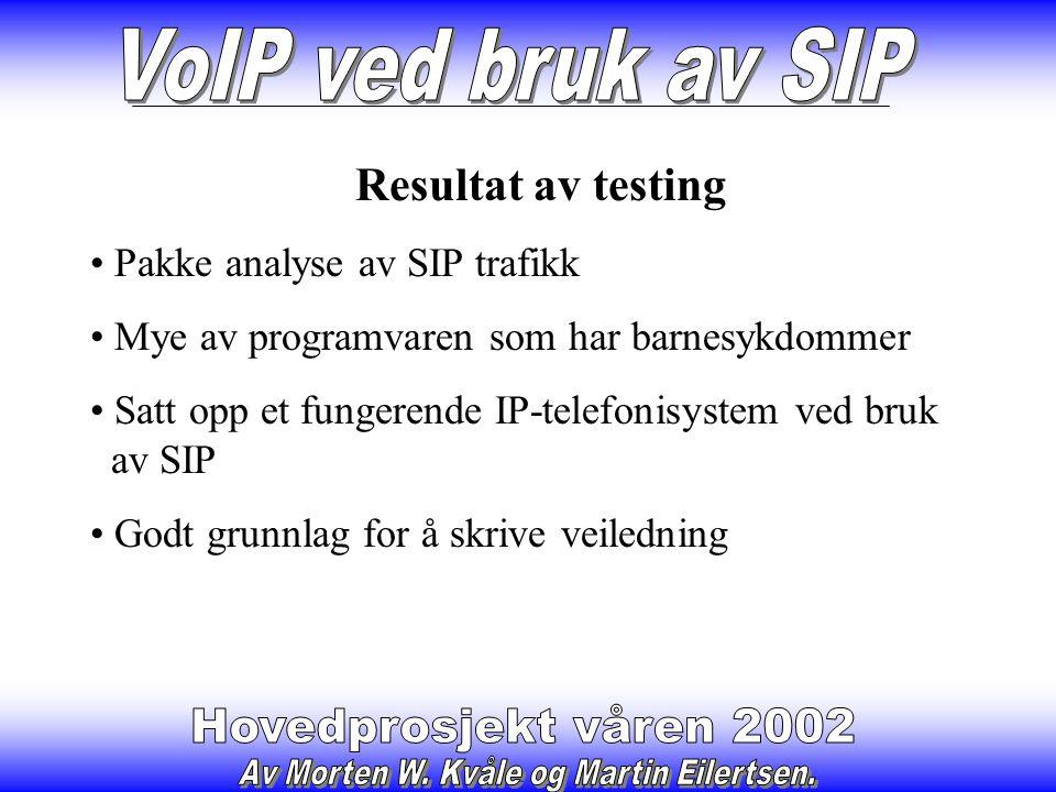 VOCAL SIP Proxy Server Produsert av Vovida Støttet økonomisk av Cisco m.fl.