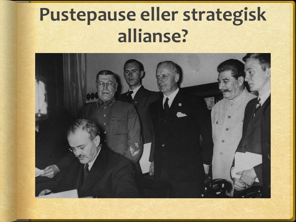 Pustepause eller strategisk allianse?