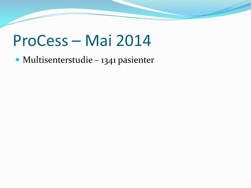 ProCess – Mai 2014 Multisenterstudie – 1341 pasienter