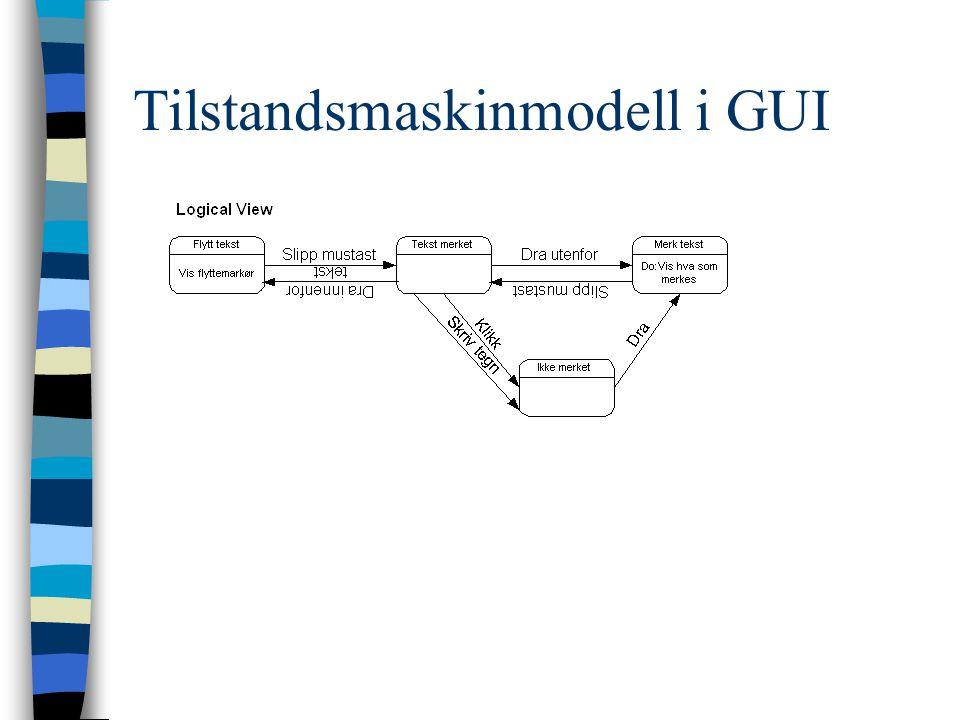 Tilstandsmaskinmodell i GUI