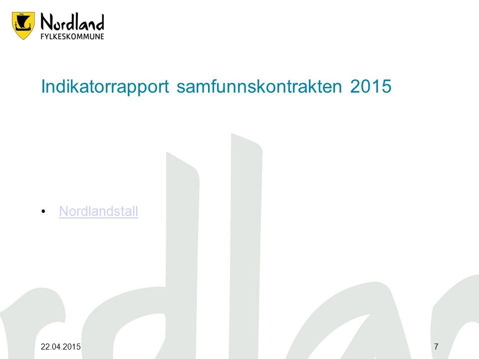 Indikatorrapport samfunnskontrakten 2015 Nordlandstall 22.04.20157