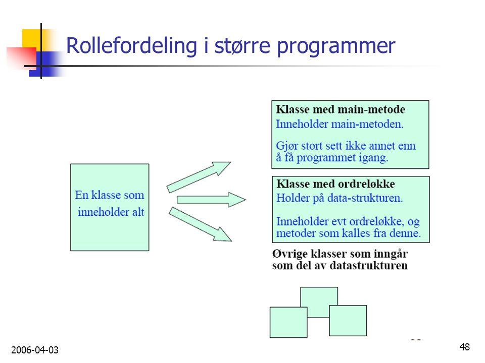 2006-04-03 48 Rollefordeling i større programmer