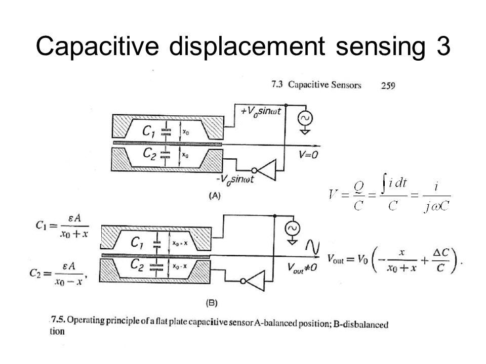 Capacitive spring based accelerometer