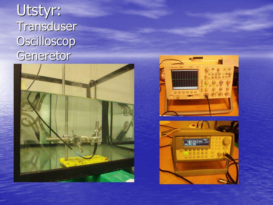 Utstyr: Transduser Oscilloscop Generetor