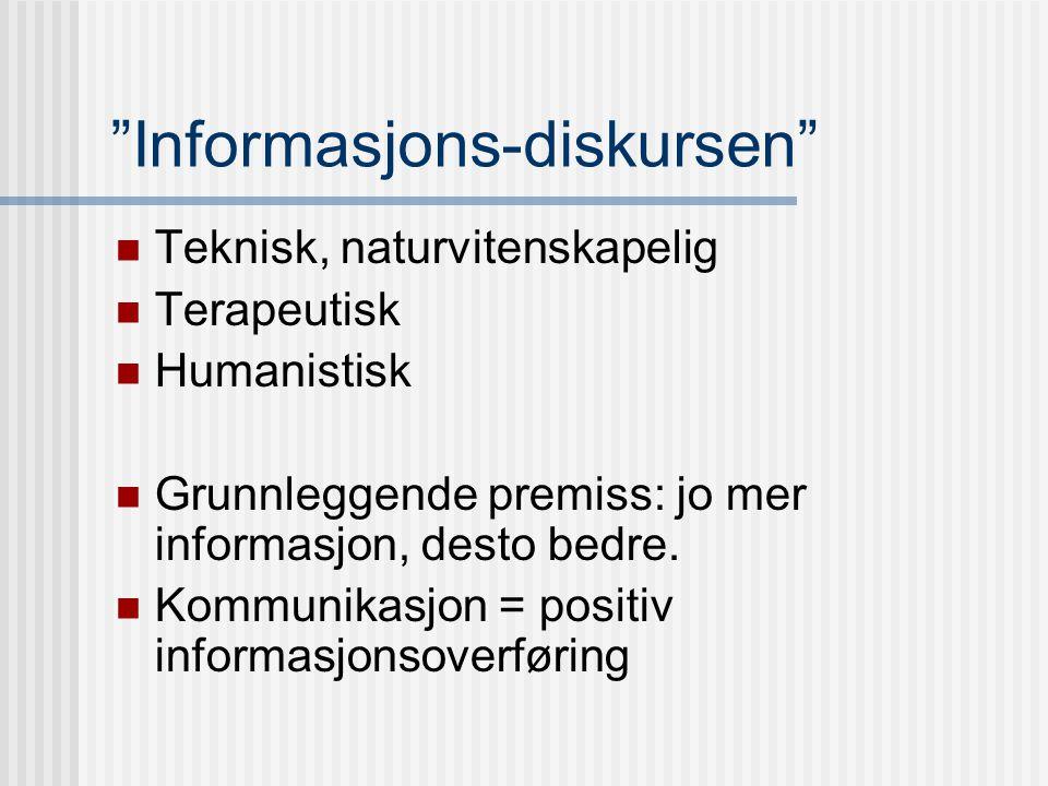 """Etter 1945: Nye tendenser Universalbegrepet """"informasjon"""" Shannon & Weavers modell for informasjonsoverføring"""