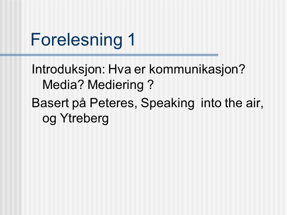 Program 1. sept Introduksjon ved Hans Fr. Dahl 8. sept Mediering, ved Knut Lundby 15.sept Samvær/smågrupper, ved Terje Rasmussen 22.sept Tegn, ved Han