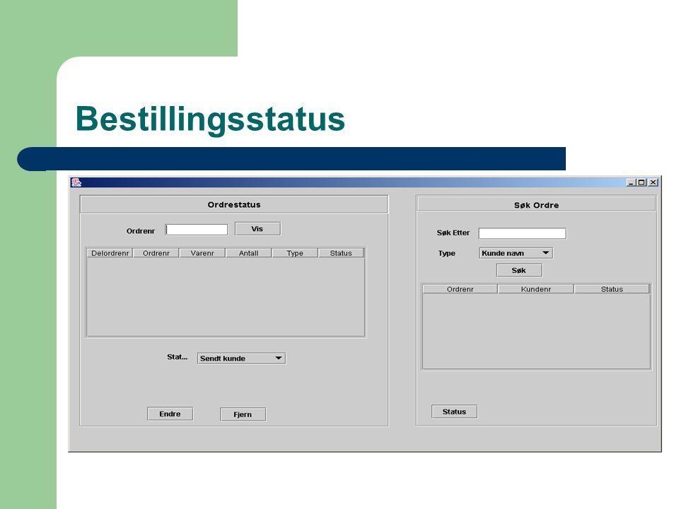 Bestillingsstatus