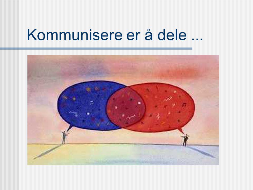 Kommunikasjon: Et positivt ladet begrep Fellesskap Forståelse Samhandling