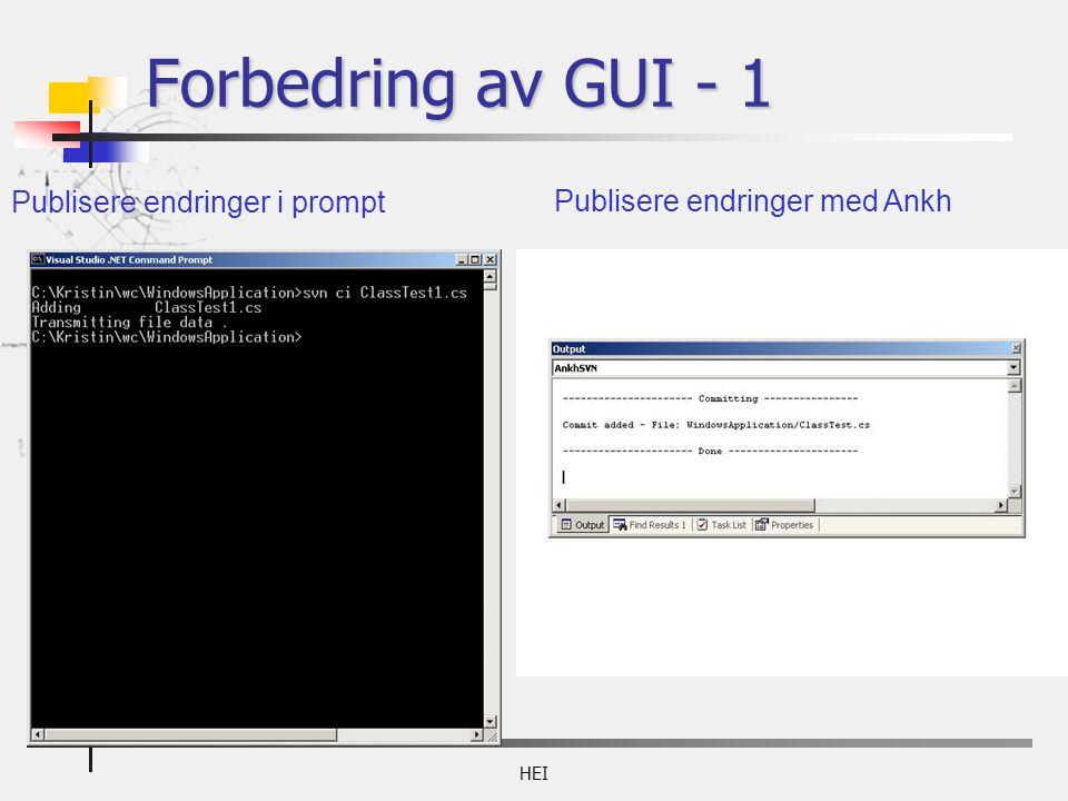 HEI Publisere endringer i prompt Publisere endringer med Ankh Forbedring av GUI - 1