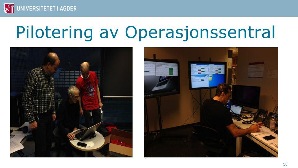 Pilotering av Operasjonssentral 10