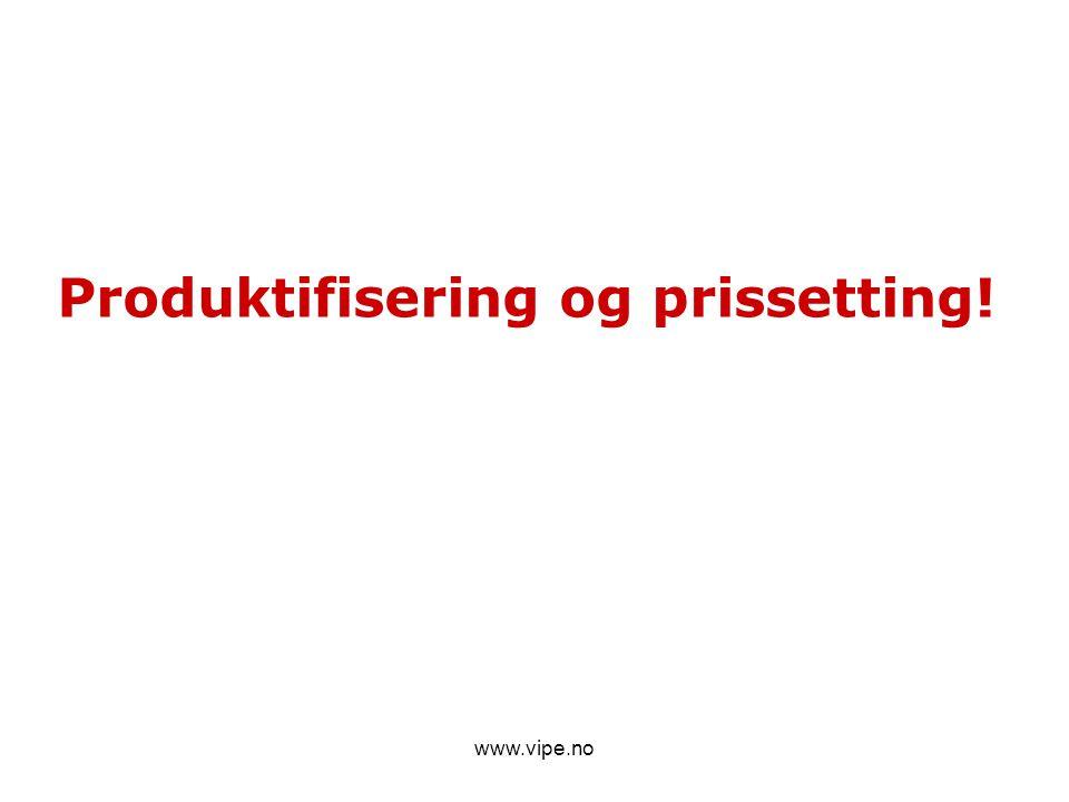 www.vipe.no Produktifisering og prissetting!