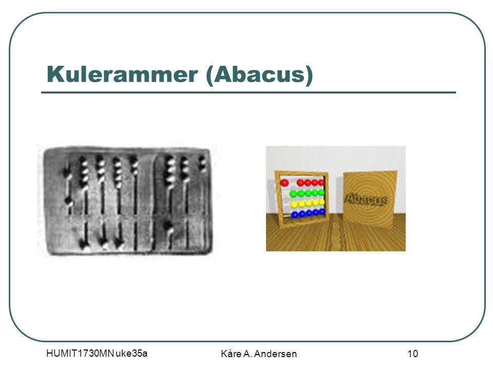 HUMIT1730MN uke35a Kåre A. Andersen 10 Kulerammer (Abacus)
