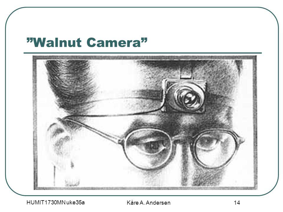 "HUMIT1730MN uke35a Kåre A. Andersen 14 ""Walnut Camera"""