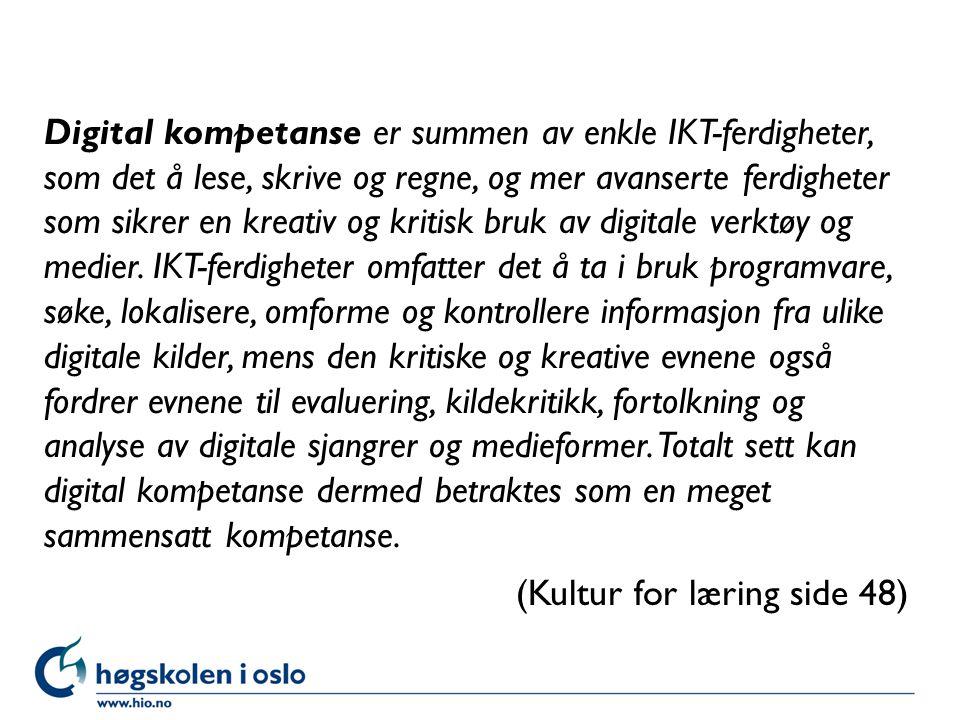Høgskolen i Oslo Hva trenger vi for å lage et godt opplegg knyttet til tekstbehandleren som planleggingsdokument.