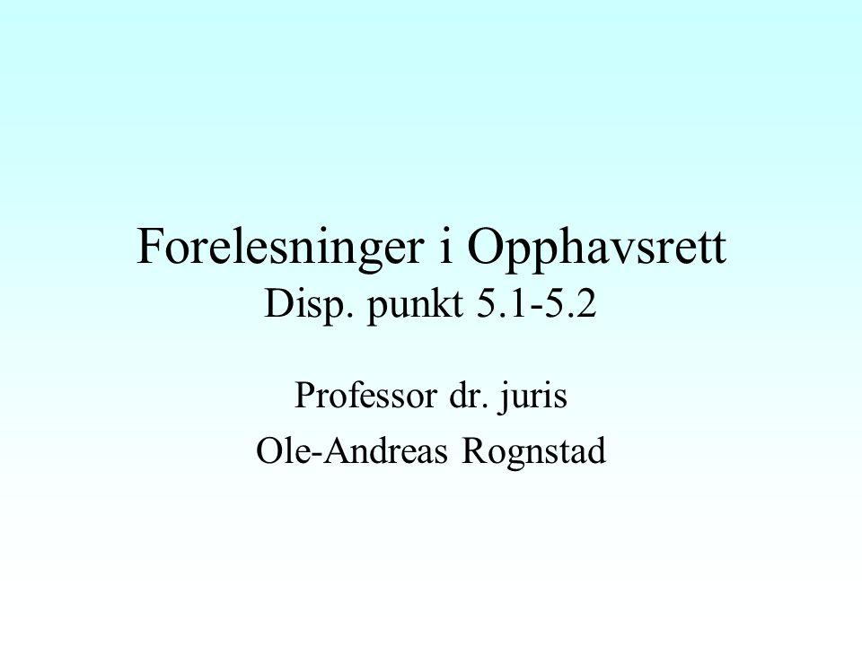 Språkverk Skrifter av alle slag, muntlige foredrag –en lang rekke forskjellige typer frembringelser Originalitetskravet: Rt 1997 s.