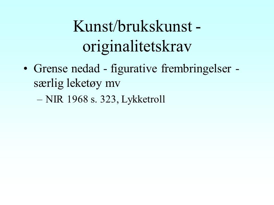 Språkverk (forts.) Brev –NJA 1921 s. 579, Gustav Fröding - strenge krav –Kontrast: Stockholm Tingsrätt 1999, Ulf Lundell