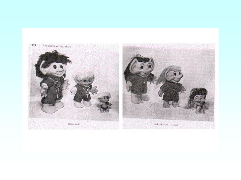 Kunst/brukskunst - originalitetskrav Grense nedad - figurative frembringelser - særlig leketøy mv –NIR 1968 s. 323, Lykketroll
