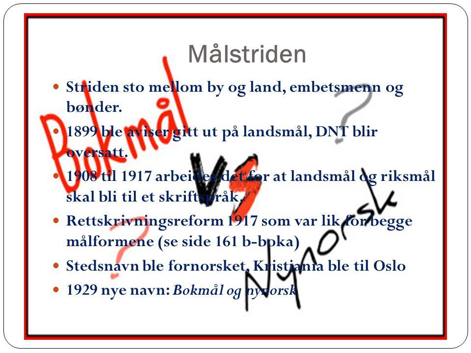Nynorsken blomstrer 1935 19,9% nynorsk skoler 1939 29,9% nynorsk skoler Nytt møte mellom de stridende satt til 9.